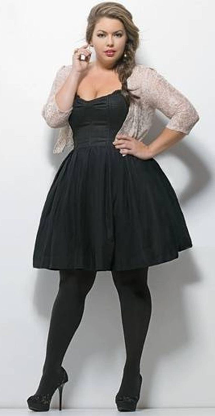 LBD for plus size with jackets