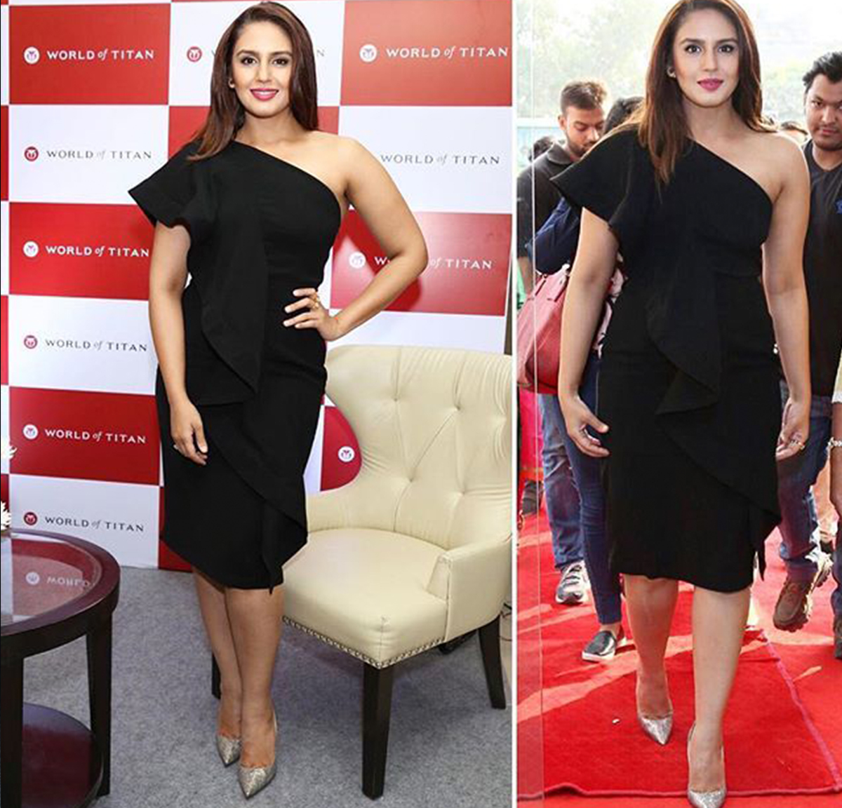 Huma Qureshi little black dress