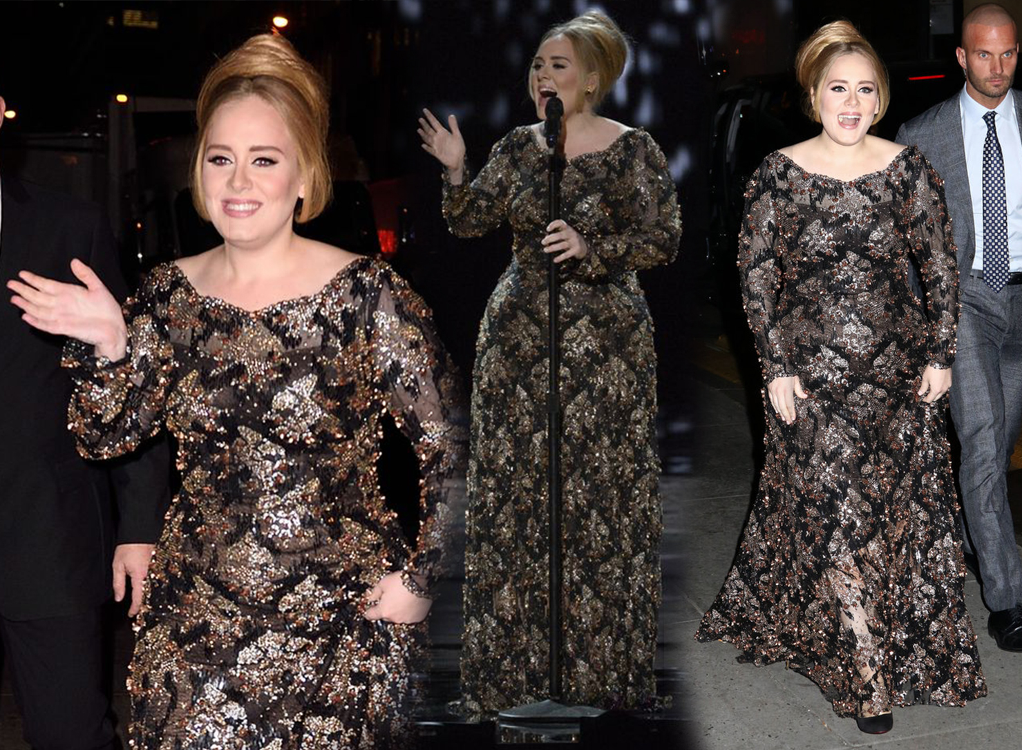 Adele plus size dress