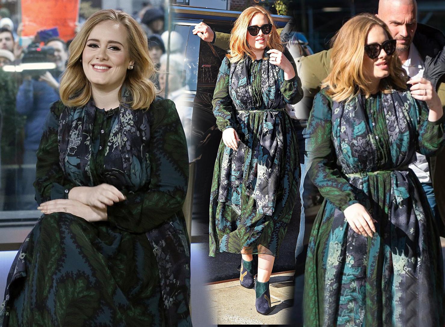 Adele's floral dress