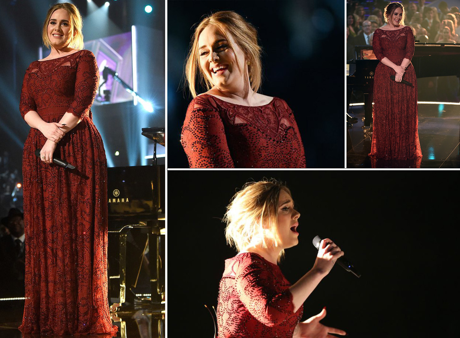 Adele's red gown