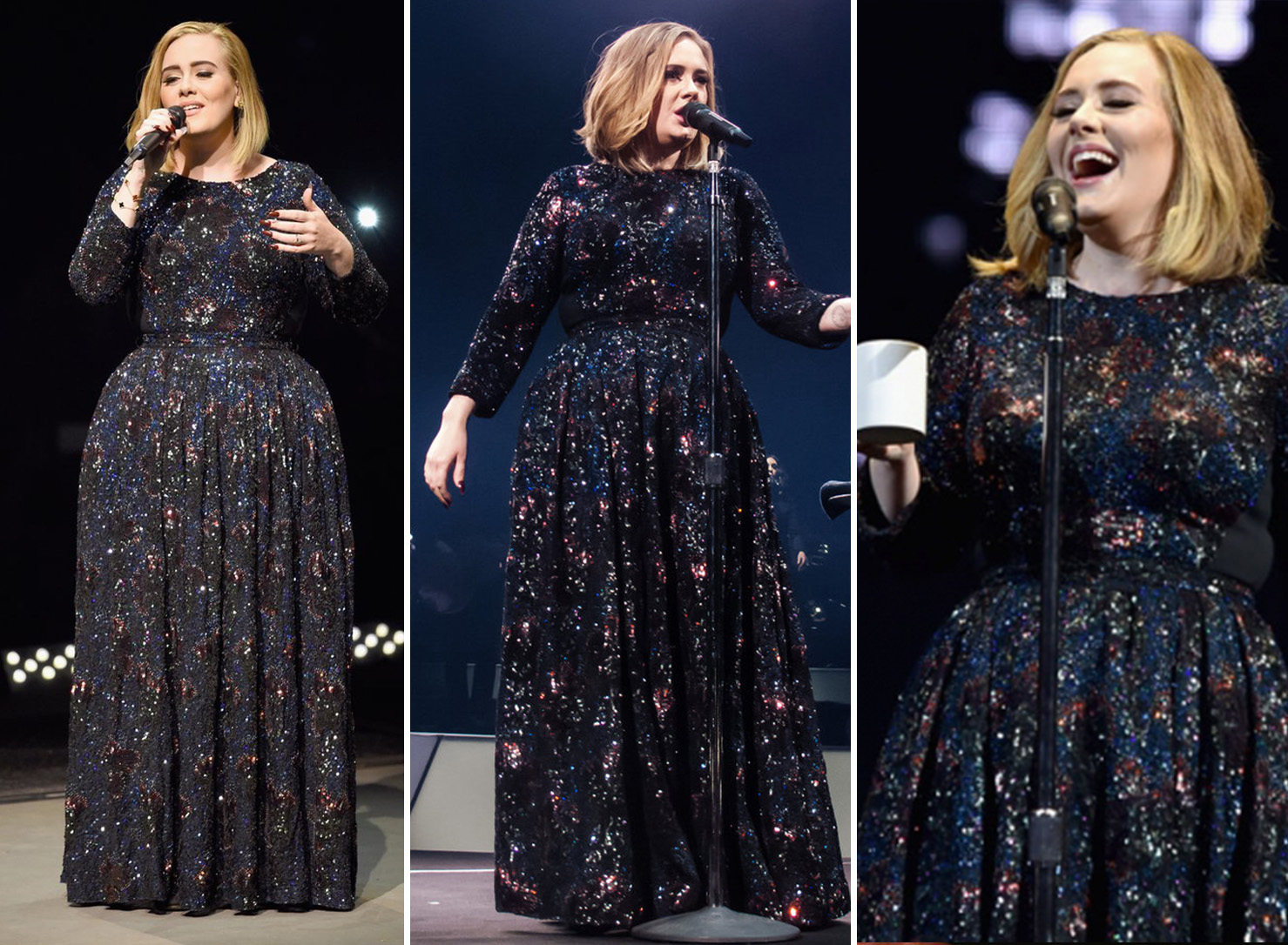 Adele's black gown