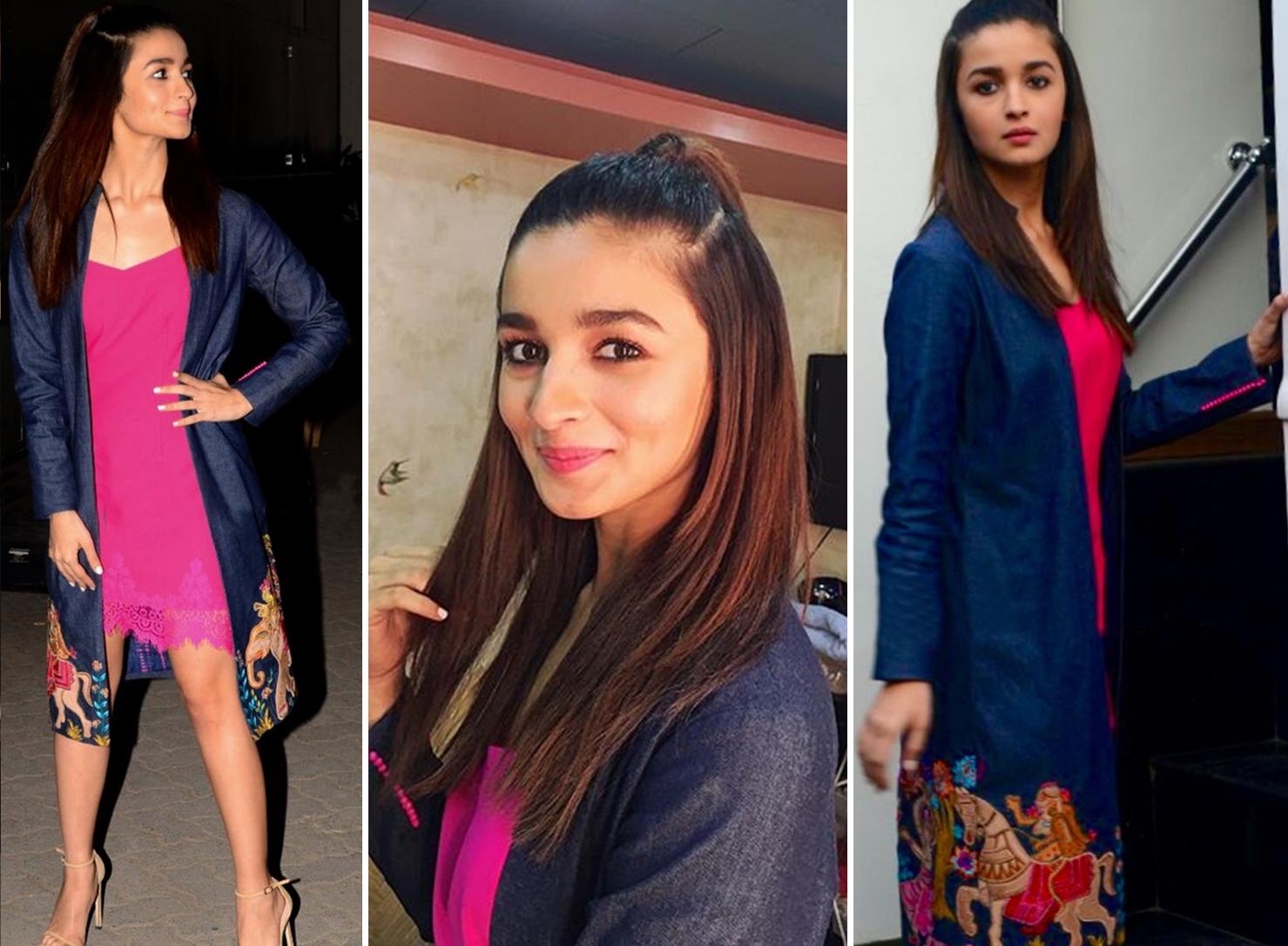 Alia Bhatt Pink Dresses
