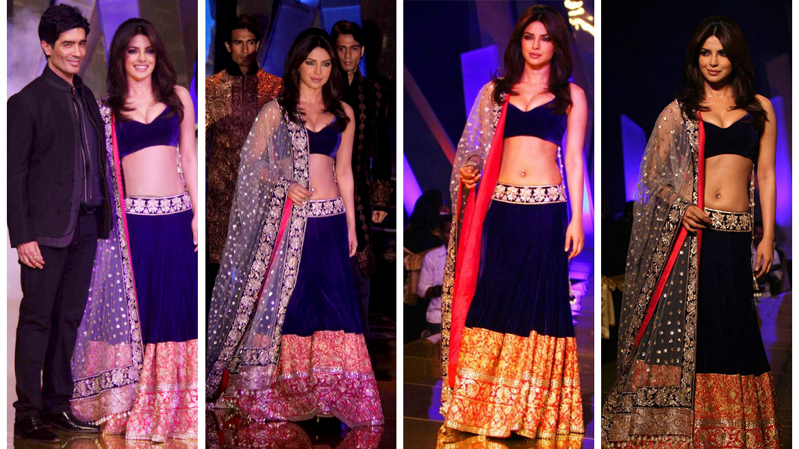 Priyanka Chopra in Manish Malhotra Dresses