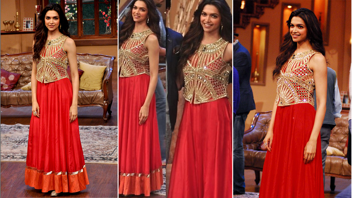 Deepika Padukone lehenga at Comedy Nights with Kapil