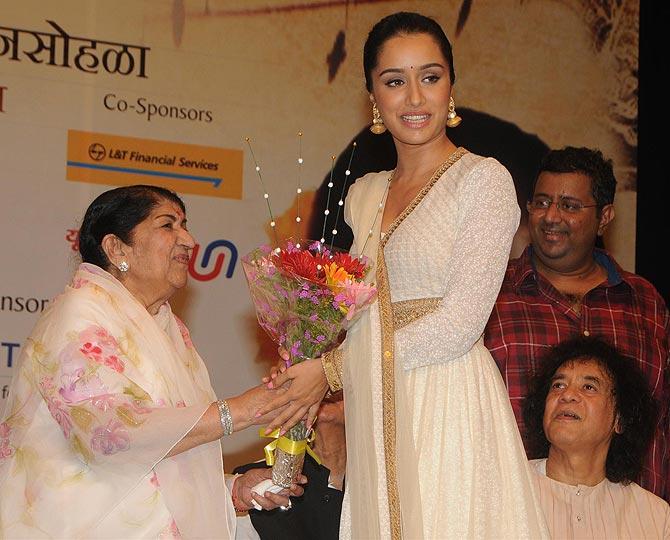 Shraddha Kapoor and Lata Mangeshkar