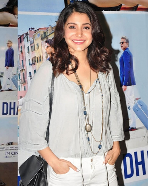 Anushka Sharma Lacy blouse