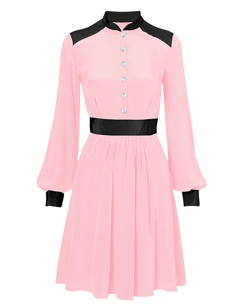 Benedicte blush shirtdress