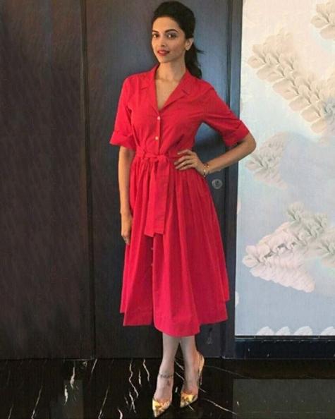 Deepika Padukone Toggle sash shirt dress