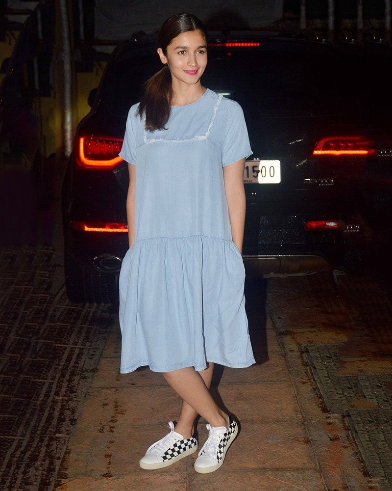 Alia Bhatt Floppy Ruffled Hem Dress