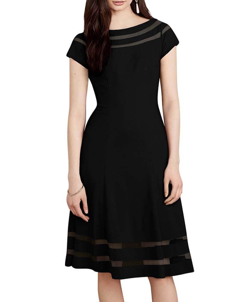 Sheer detail dress