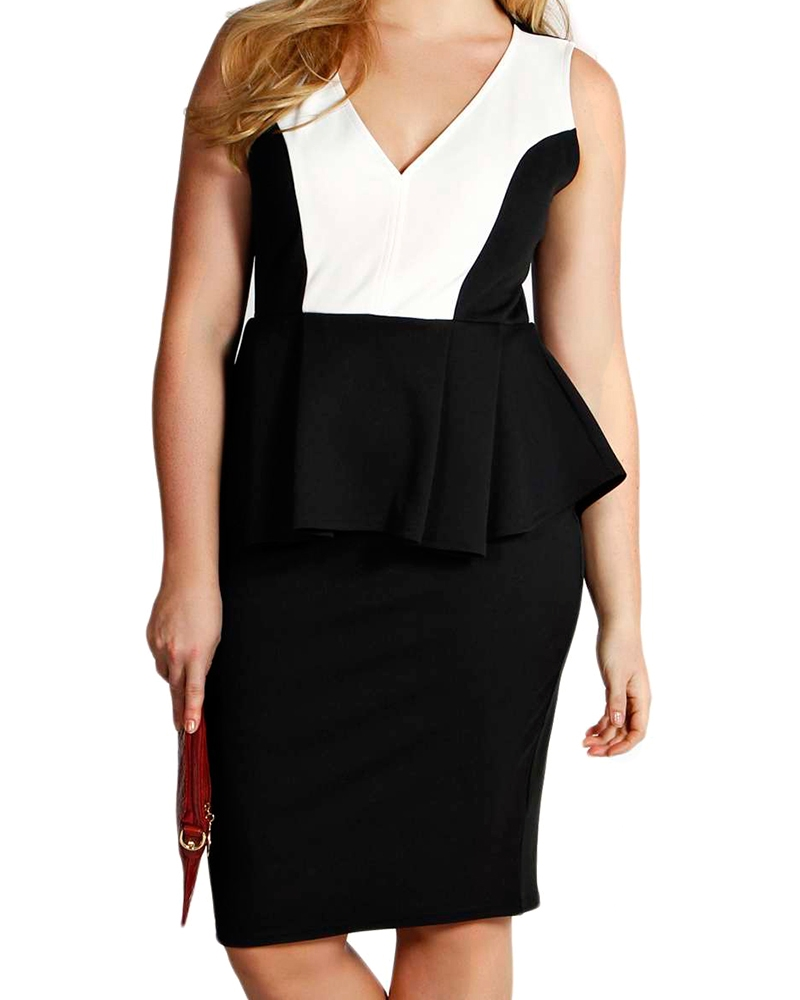 Moda Peplum Dress