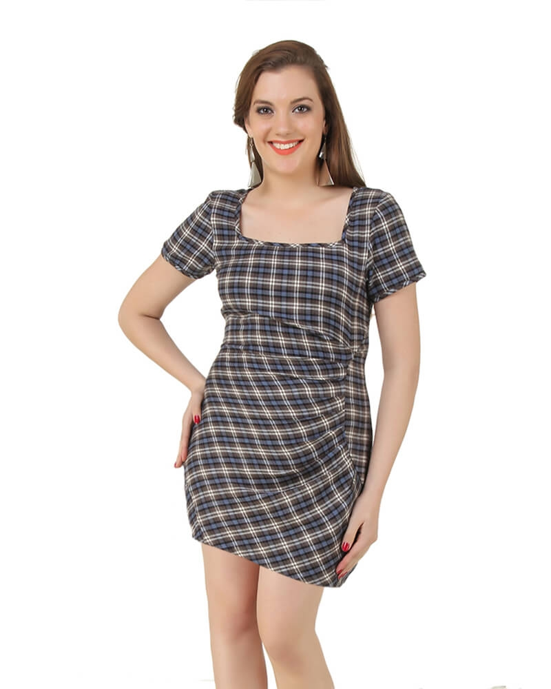 Plaid Lily Dress