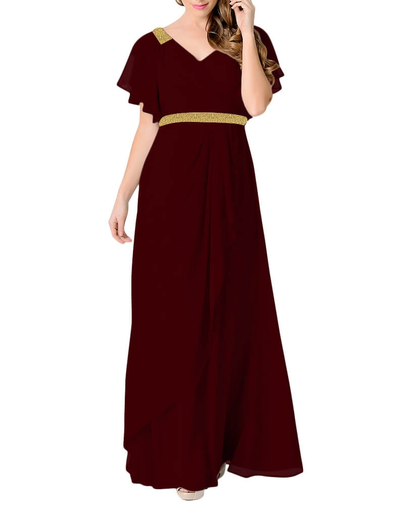 Romantic sweep evening gown
