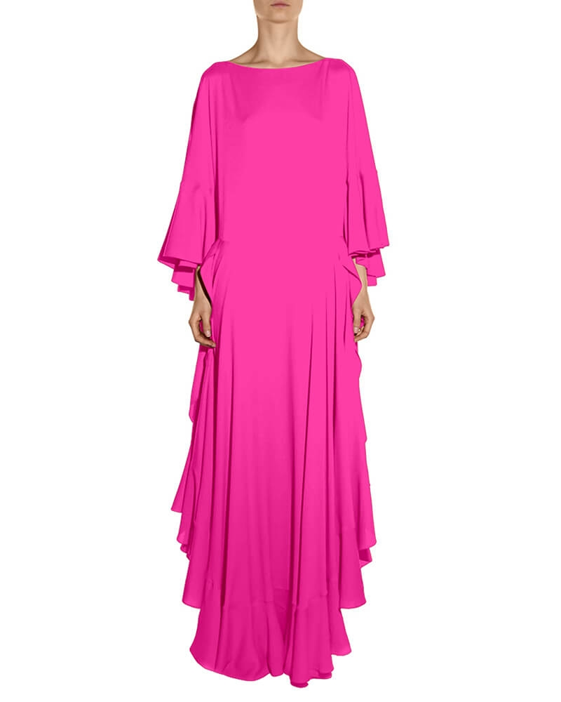 Ursula pink ruffle dress
