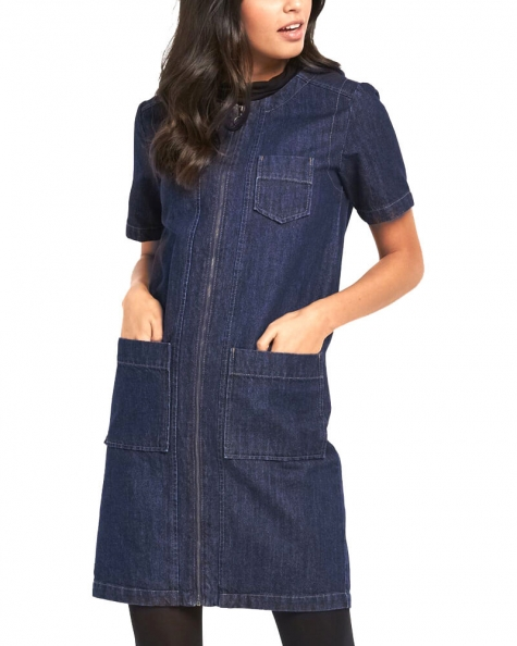 Dare To Denim Zipper Dress