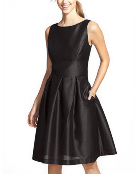 Dupioni Fit & Flare Dress