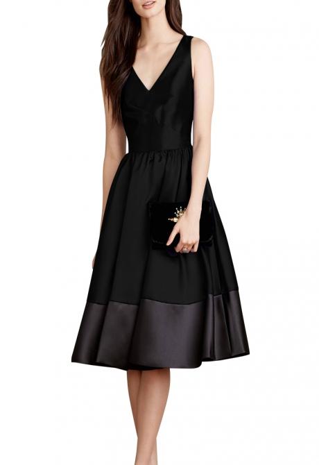 Jana Flounce Black Dress