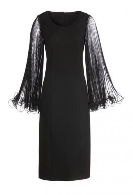 Salvia Wings Black Dress