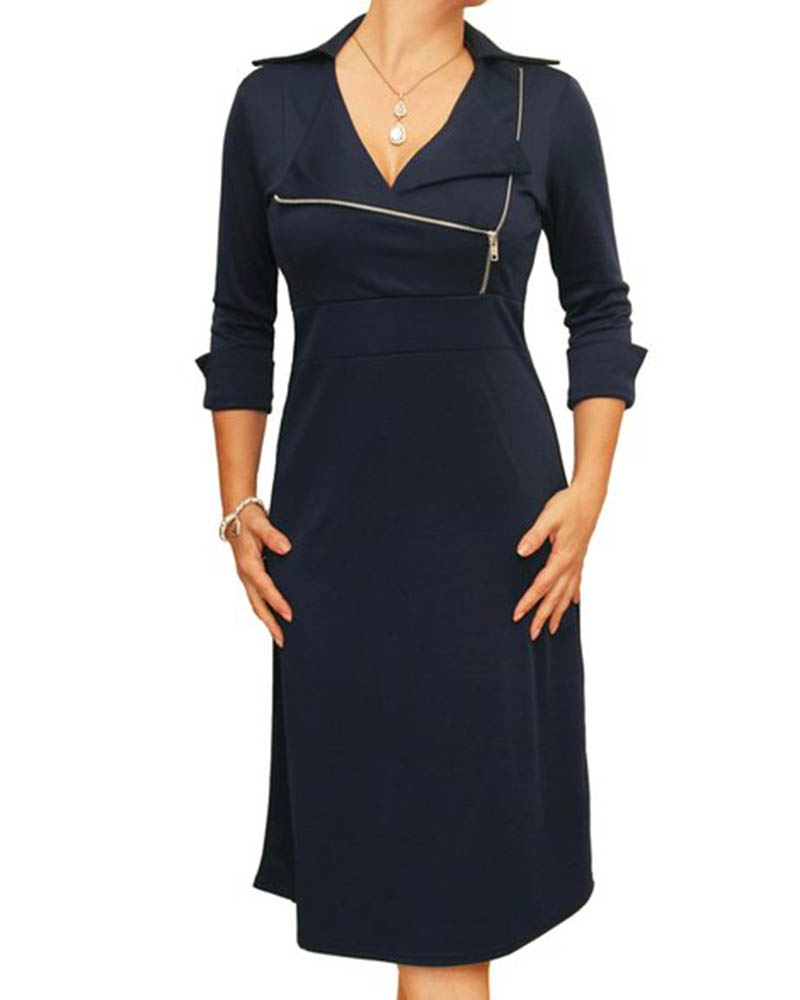 Verbena Zipper Dress
