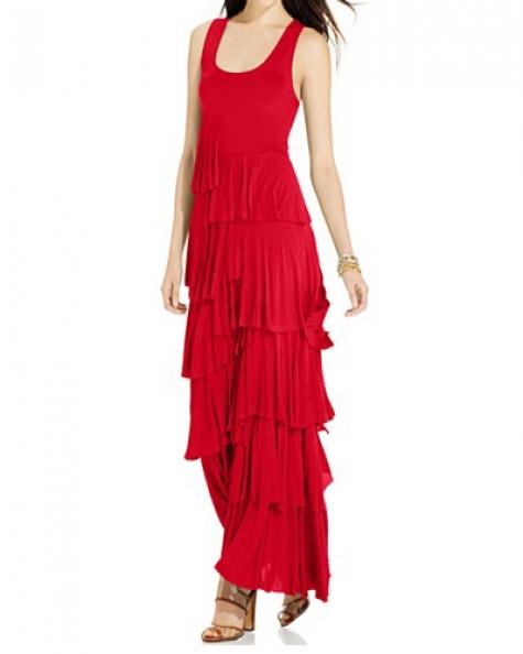 Graceful Red Maxi Dress