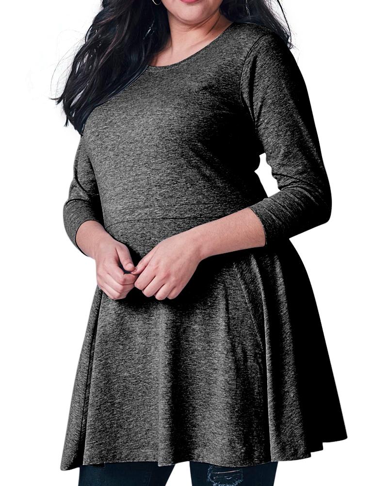 Grey Plus Size Dress