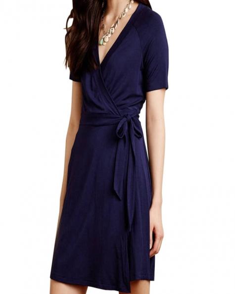 Indigo Wrap Dress