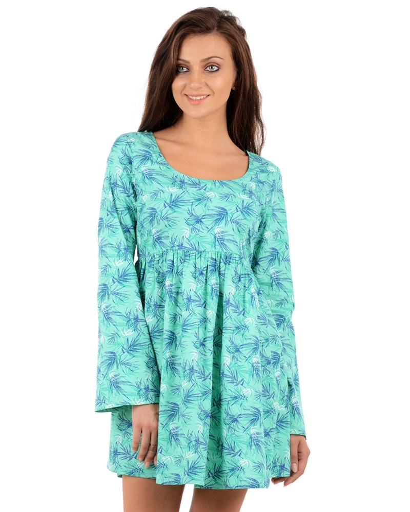 Snow Grass Bell Sleeve Dress