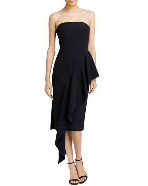 Black Is  My Color Fitted Dress