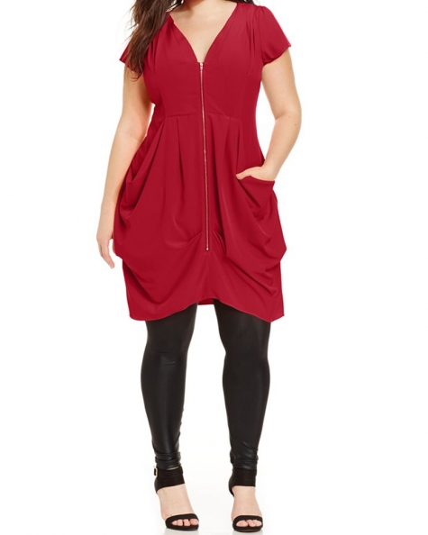 Betty Solid Red Dress