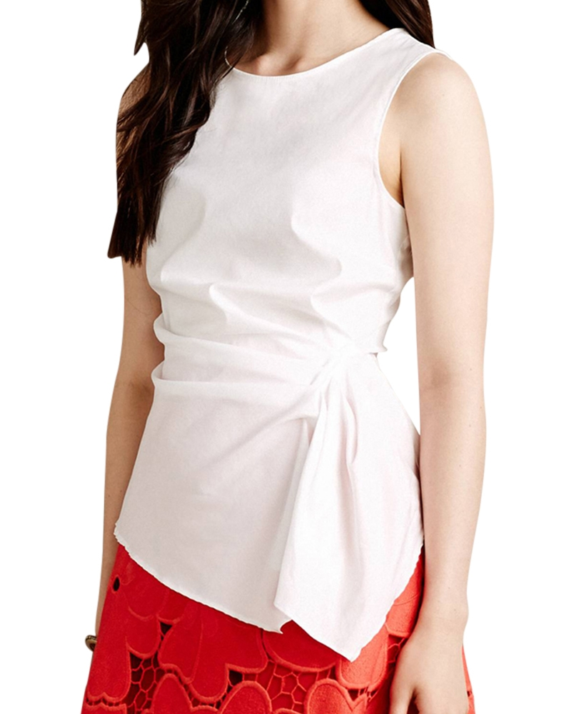 Crisp Lily Draped Blouse