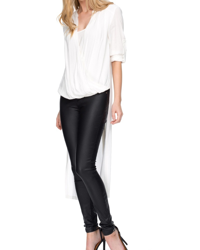 Winged Drape Blouse