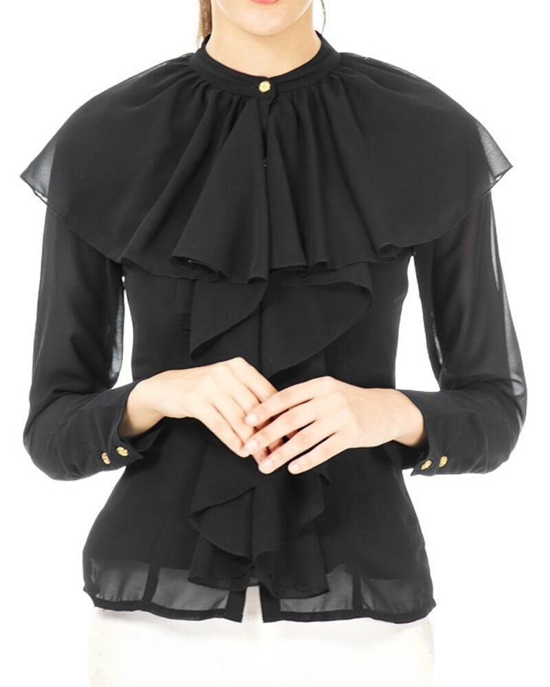 Black Shoulder Top