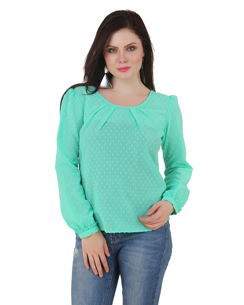 Mint It Up Zipper Top