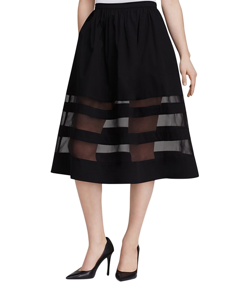 Charme  Transparent Striped Skirt