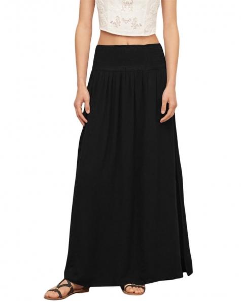 Side Slit Smocked Skirt