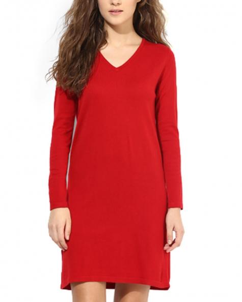 Becka Solid Red Dress