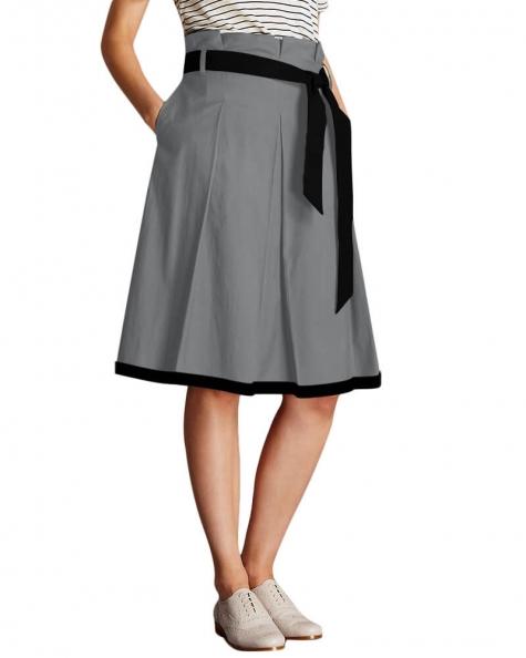 Belt looped A line skirt
