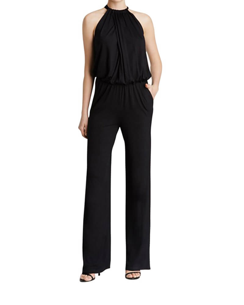 Dewberries Black Jumpsuit