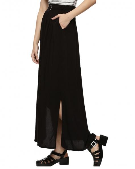 Femma Belted Skirt- Black