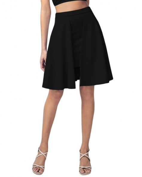 Flared double layer skirt