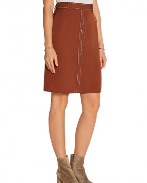 Front Placket Short Skirt