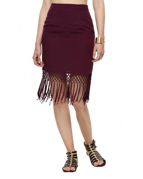 Meroliyo Fringe Skirt