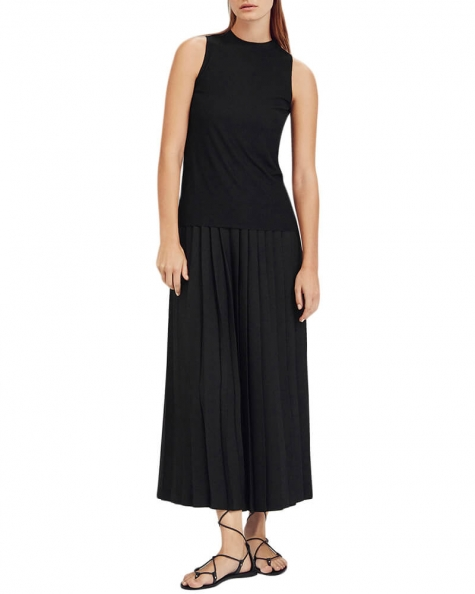 Pleated plazzo pants
