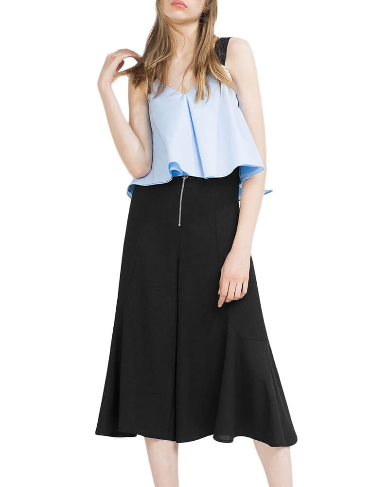 Poly crepe culottes