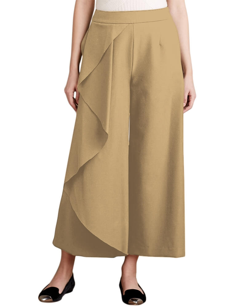 Ruffled side detail Culottes