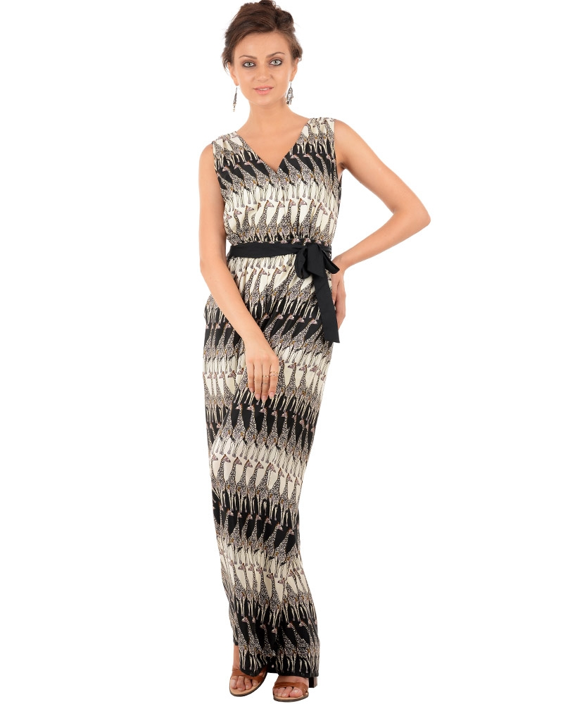 Safari Surplice Neck Jumpsuit