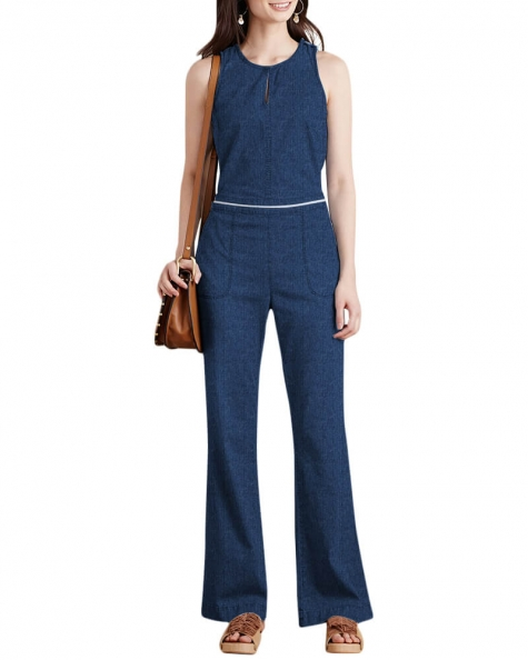 Side slant jumpsuit