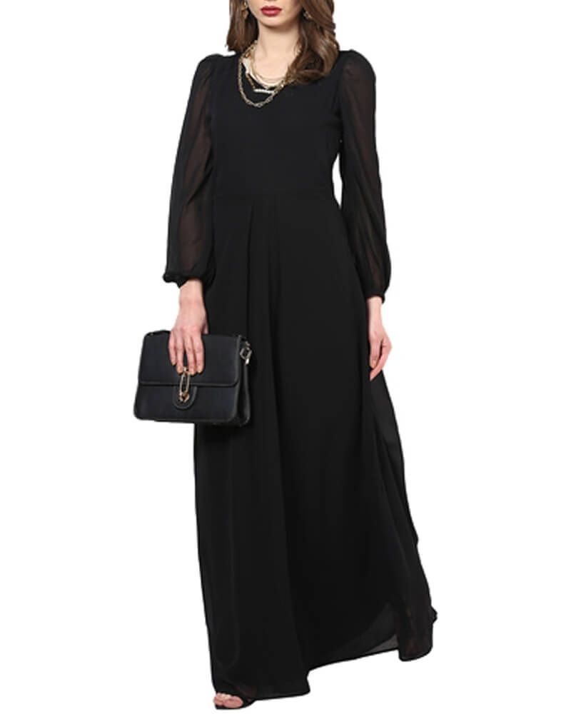 Doves Of The Night Sky Maxi Gown