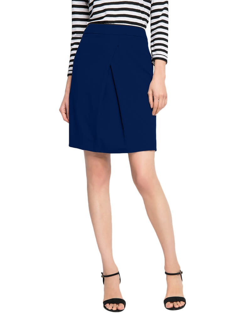 Draped pleat pencil skirt